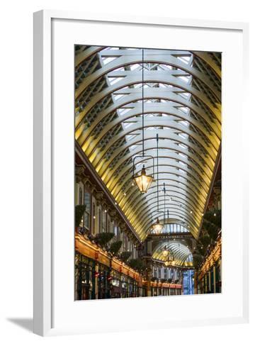 England, London, City, Leadenhall Market, Interior-Walter Bibikow-Framed Art Print
