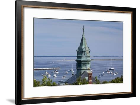 Massachusetts, Cape Cod, Provincetown, View of Town Hall and Harbor-Walter Bibikow-Framed Art Print