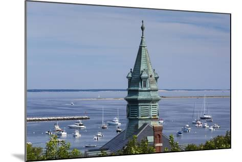 Massachusetts, Cape Cod, Provincetown, View of Town Hall and Harbor-Walter Bibikow-Mounted Photographic Print