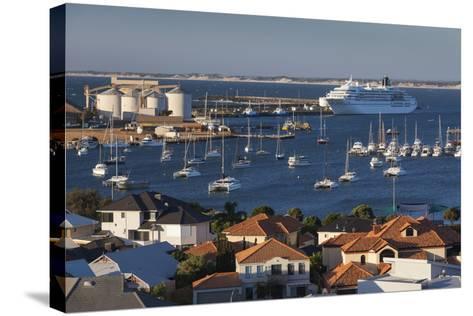 Australia, Bunbury, Elevated View of Port, Dusk-Walter Bibikow-Stretched Canvas Print