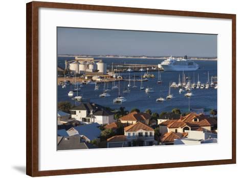 Australia, Bunbury, Elevated View of Port, Dusk-Walter Bibikow-Framed Art Print