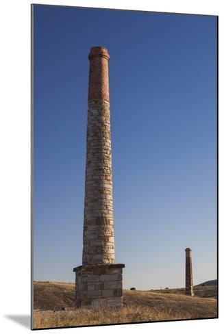 Australia, Burra, Former Copper Mining Town, Burra Mine, Smokestack-Walter Bibikow-Mounted Photographic Print