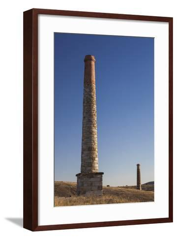 Australia, Burra, Former Copper Mining Town, Burra Mine, Smokestack-Walter Bibikow-Framed Art Print