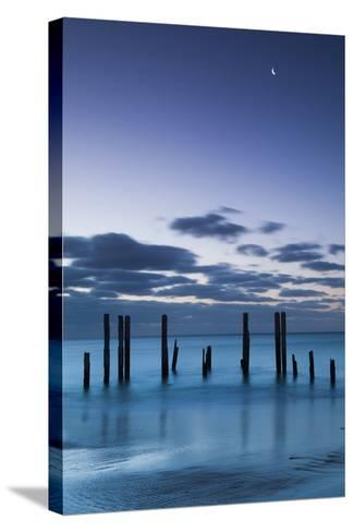 Australia, Fleurieu Peninsula, Port Willunga, Old Jetty, Dusk-Walter Bibikow-Stretched Canvas Print