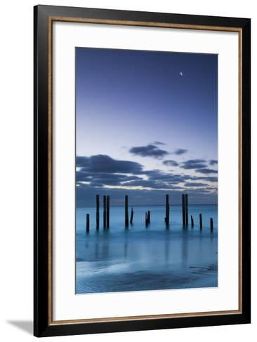 Australia, Fleurieu Peninsula, Port Willunga, Old Jetty, Dusk-Walter Bibikow-Framed Art Print