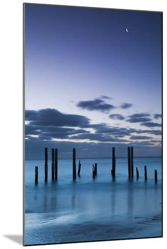 Australia, Fleurieu Peninsula, Port Willunga, Old Jetty, Dusk-Walter Bibikow-Mounted Photographic Print