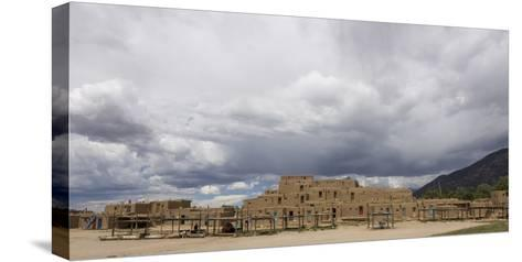 New Mexico. Taos Pueblo, Architecture Style from Pre Hispanic Americas-Luc Novovitch-Stretched Canvas Print