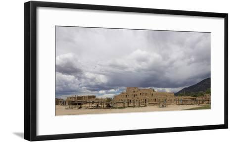 New Mexico. Taos Pueblo, Architecture Style from Pre Hispanic Americas-Luc Novovitch-Framed Art Print
