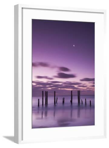 Australia, Fleurieu Peninsula, Port Willunga, Old Jetty, Dusk-Walter Bibikow-Framed Art Print