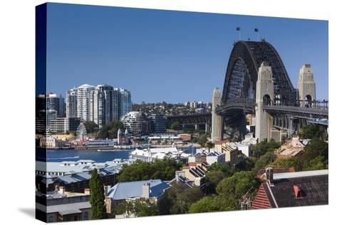 Australia, Sydney Harbor Bridge from Observatory Park-Walter Bibikow-Stretched Canvas Print