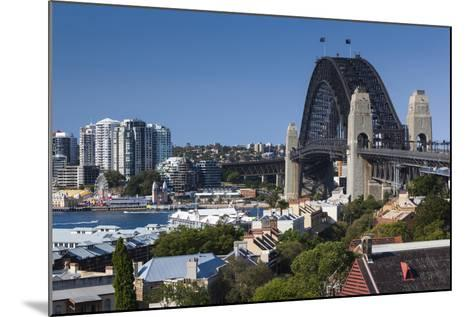 Australia, Sydney Harbor Bridge from Observatory Park-Walter Bibikow-Mounted Photographic Print