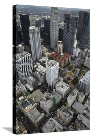 Downtown Los Angeles, Including Us Bank Tower 73 Floors, Aerial-David Wall-Stretched Canvas Print