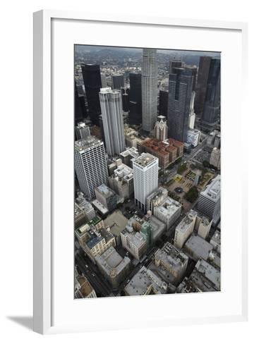 Downtown Los Angeles, Including Us Bank Tower 73 Floors, Aerial-David Wall-Framed Art Print