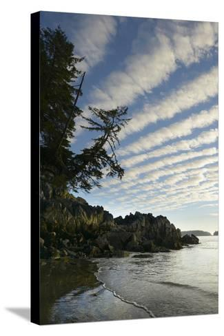 Canada, B.C, Vancouver Island. Clouds Above Tonquin Beach, Tofino-Kevin Oke-Stretched Canvas Print