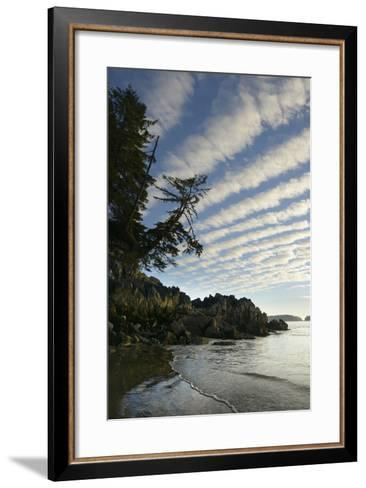 Canada, B.C, Vancouver Island. Clouds Above Tonquin Beach, Tofino-Kevin Oke-Framed Art Print