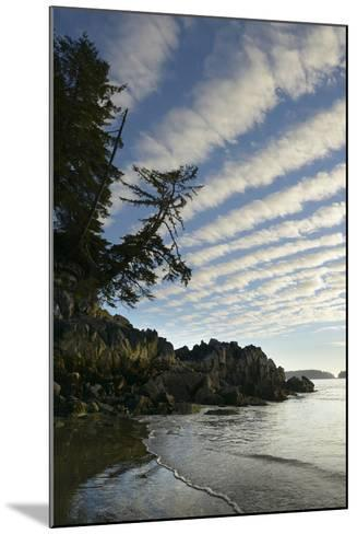 Canada, B.C, Vancouver Island. Clouds Above Tonquin Beach, Tofino-Kevin Oke-Mounted Photographic Print