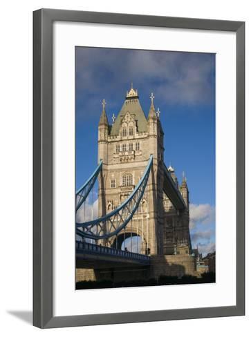 England, London, Tower Bridge, Late Afternoon-Walter Bibikow-Framed Art Print