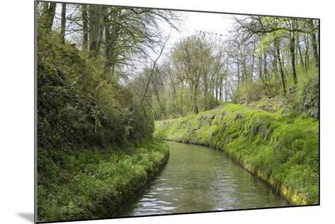 France, Burgundy, Nievre. Lush Banks of the Nivernais Canal-Kevin Oke-Mounted Photographic Print