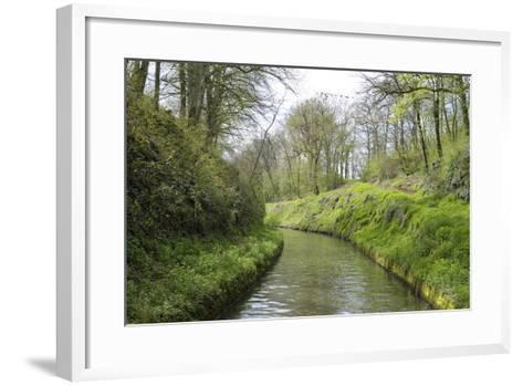 France, Burgundy, Nievre. Lush Banks of the Nivernais Canal-Kevin Oke-Framed Art Print