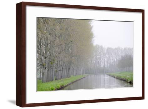 France, Burgundy, Nievre. Spring Along the Nivernais Canal-Kevin Oke-Framed Art Print