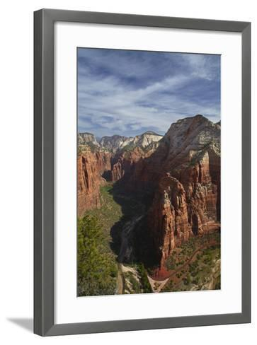 Utah, Zion National Park, Observation Point, Canyonseen from Angels Landing-David Wall-Framed Art Print