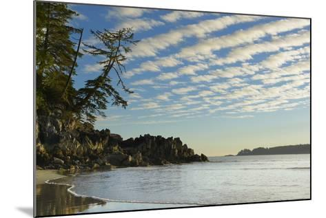 Canada, B.C, Vancouver Island. Clouds and Reflections on Tonquin Beach-Kevin Oke-Mounted Photographic Print