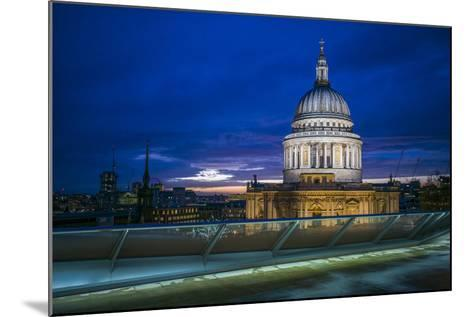 England, London, City, St. Pauls Cathedral from One New Change, Dusk-Walter Bibikow-Mounted Photographic Print