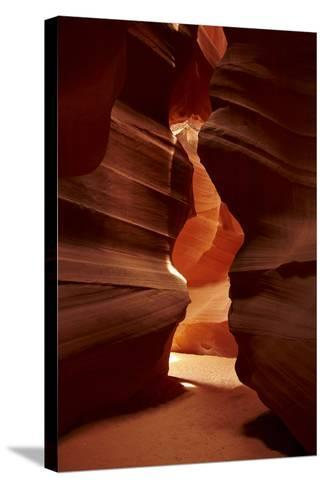 Navajo Nation, Eroded Sandstone Formations in Upper Antelope Canyon-David Wall-Stretched Canvas Print