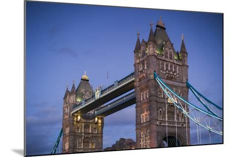 England, London, Tower Bridge, Dusk-Walter Bibikow-Mounted Photographic Print
