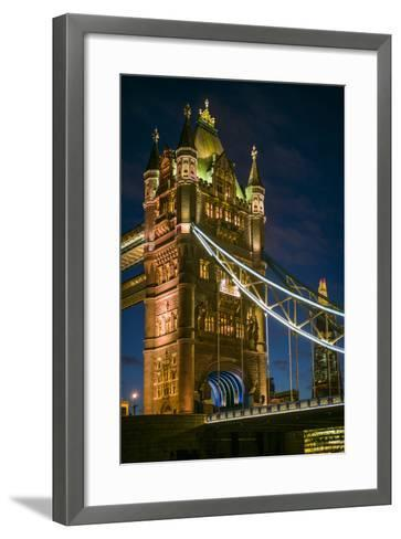 England, London, Tower Bridge, Dusk-Walter Bibikow-Framed Art Print