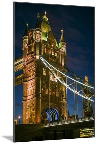 England, London, Tower Bridge, Dusk-Walter Bibikow-Mounted Photographic Print