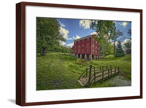 USA, Indiana, Cutler. Adams Mill-Rona Schwarz-Framed Art Print