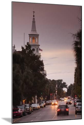 South Carolina, Charleston, Broad St and St Michaels Episcopal Church-Walter Bibikow-Mounted Photographic Print