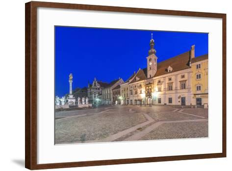Slovenia, Maribor, Maribor Town Hall Square at Dawn-Rob Tilley-Framed Art Print