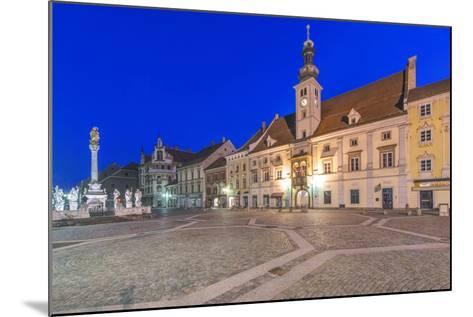 Slovenia, Maribor, Maribor Town Hall Square at Dawn-Rob Tilley-Mounted Photographic Print