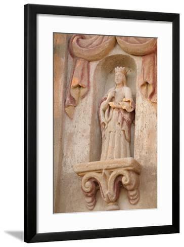 Arizona, Tucson. Facade of the San Xavier Del Bac Mission-Kevin Oke-Framed Art Print