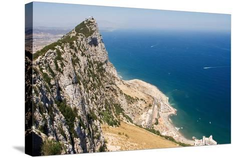 The Rock of Gibraltar Overlooking the Atlantic Ocean-Susan Degginger-Stretched Canvas Print