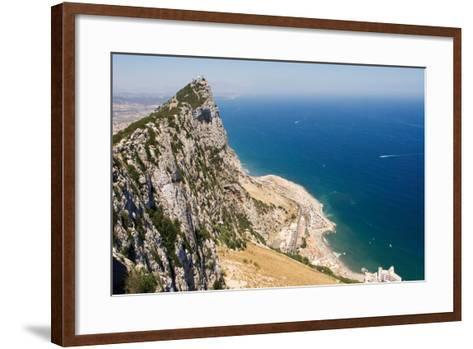 The Rock of Gibraltar Overlooking the Atlantic Ocean-Susan Degginger-Framed Art Print