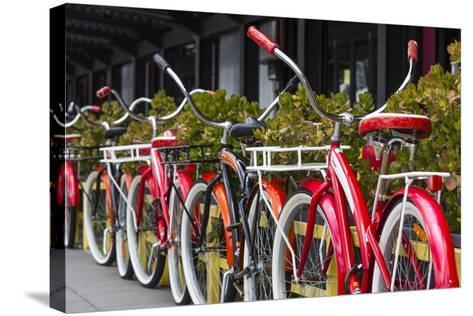 Australia, Victoria, Melbourne, Bicycles Outside Mars and Venus Bar-Walter Bibikow-Stretched Canvas Print