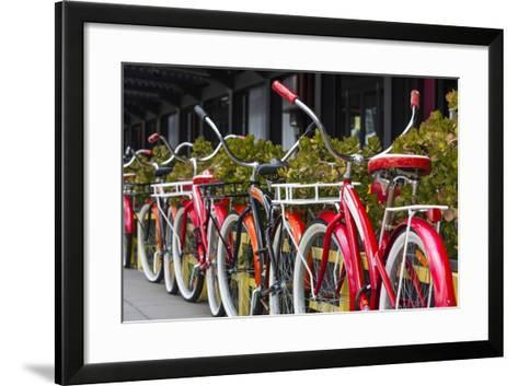 Australia, Victoria, Melbourne, Bicycles Outside Mars and Venus Bar-Walter Bibikow-Framed Art Print