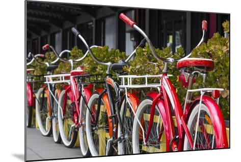 Australia, Victoria, Melbourne, Bicycles Outside Mars and Venus Bar-Walter Bibikow-Mounted Photographic Print