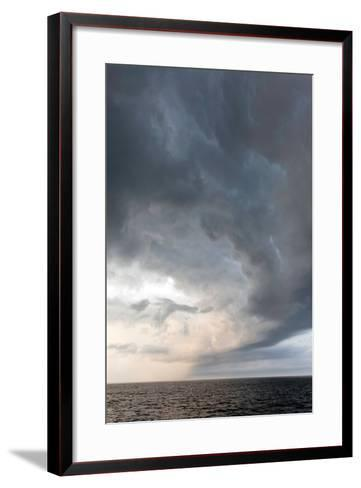 Storm Clouds over the Atlantic Ocean, Massachusetts-Susan Degginger-Framed Art Print