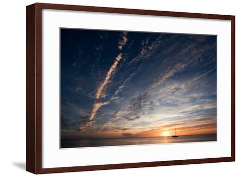 Sunset, St. Lucia, West Indies-Susan Degginger-Framed Art Print