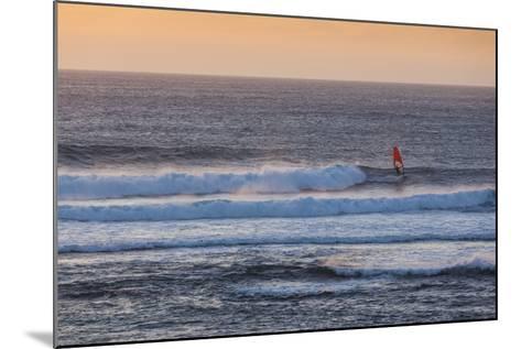 Southwest Australia, Prevelly, Surfers Point, Windsurfers, Dusk-Walter Bibikow-Mounted Photographic Print