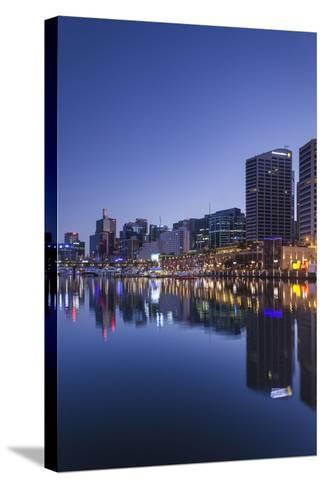 Australia, Sydney, Darling Harbor, Dawn-Walter Bibikow-Stretched Canvas Print