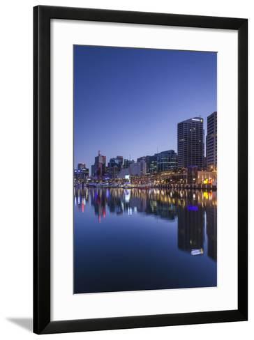 Australia, Sydney, Darling Harbor, Dawn-Walter Bibikow-Framed Art Print