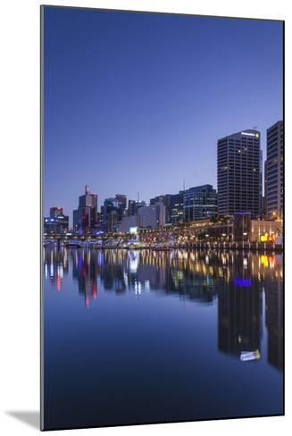 Australia, Sydney, Darling Harbor, Dawn-Walter Bibikow-Mounted Photographic Print