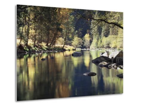 California, Sierra Nevada, Yosemite National Park, Autumn Along the Merced River-Christopher Talbot Frank-Metal Print