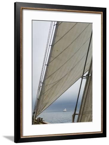 Massachusetts, Gloucester, Schooner Festival, Sails and Masts-Walter Bibikow-Framed Art Print