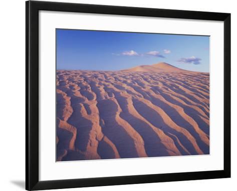 California, Dumont Dunes in the Mojave Desert at Sunset-Christopher Talbot Frank-Framed Art Print